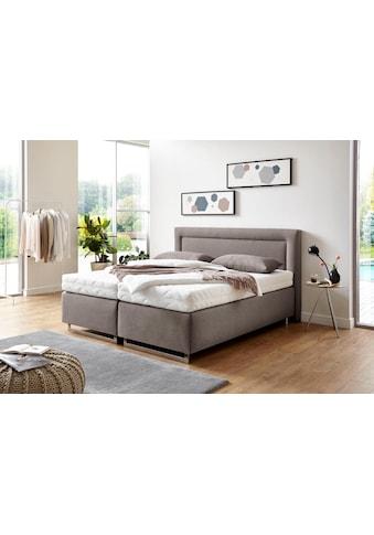 Westfalia Schlafkomfort Boxspringbett, mit Zierkissen und verchromten Kufen, in... kaufen
