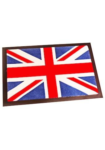 HANSE Home Fußmatte »Union Jack«, rechteckig, 8 mm Höhe, Schmutzfangmatte, waschbar kaufen