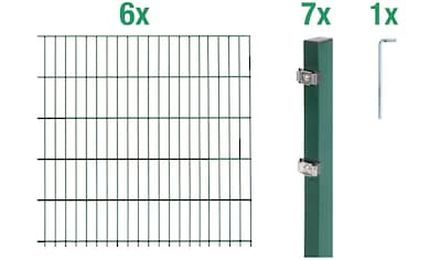 GAH Alberts Doppelstabmattenzaun, 120 cm hoch, 6 Matten für 12 m, 17 Pfosten kaufen
