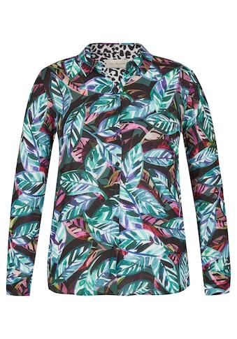 VIA APPIA Moderne Bluse mit Allover-Print Plus Size kaufen