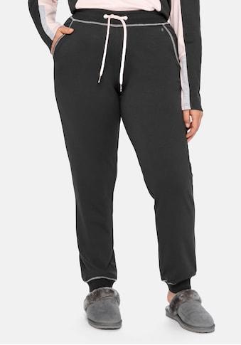 Sheego Relaxhose, mit elastischen Beinabschlüssen kaufen