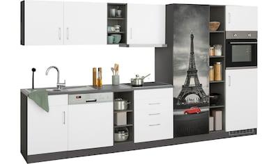 HELD MÖBEL Küchenzeile »Paris«, mit E-Geräten, Breite 350 cm, wahlweise mit... kaufen