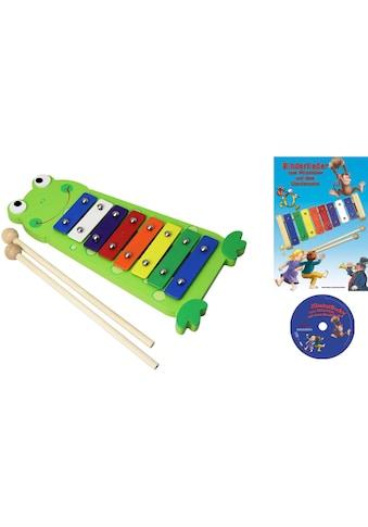 Clifton Spielzeug-Musikinstrument »Metallophon Frosch«, mit 8 Tönen und Kinderlieder... kaufen