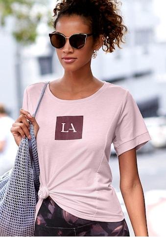 LASCANA ACTIVE T-Shirt, mit Teilungsnähten und Logodruck kaufen