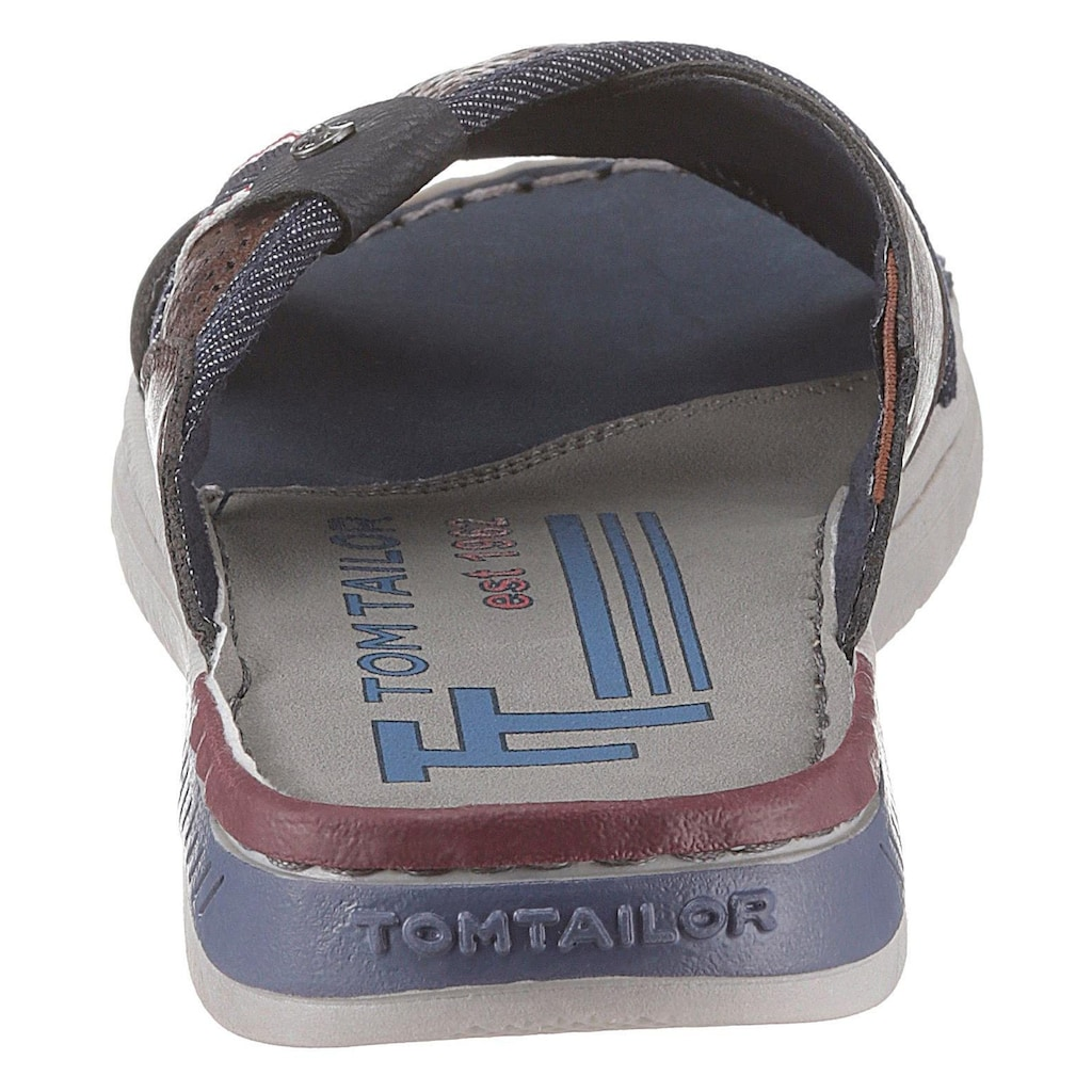 TOM TAILOR Pantolette, im Materialmix