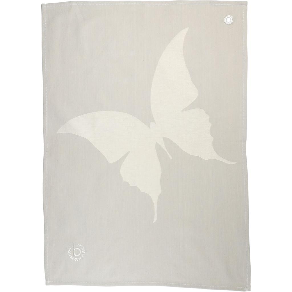 bugatti Geschirrtuch »Butterfly - Jacquard«, (Set, 2 tlg.)