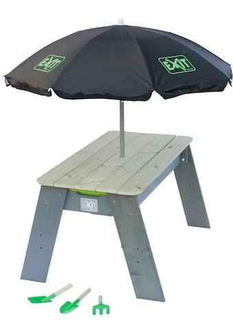 EXIT Spielzeug »Spieltisch Aksent L DELUXE«, BxL: 94x69 cm, inkl. Sonnenschirm und Gartenwerkzeuge kaufen