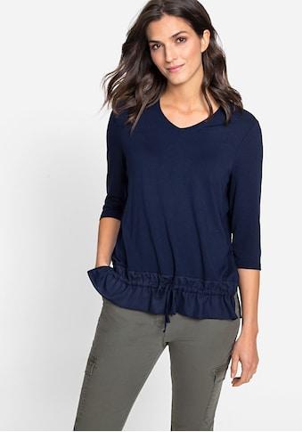 Olsen V-Shirt, mit Bindeband am vorderen Saum kaufen