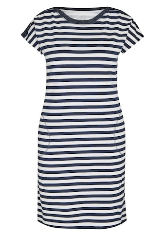Rabe Sommerkleid, mit gestreiftem Muster und kurzen Ärmeln kaufen
