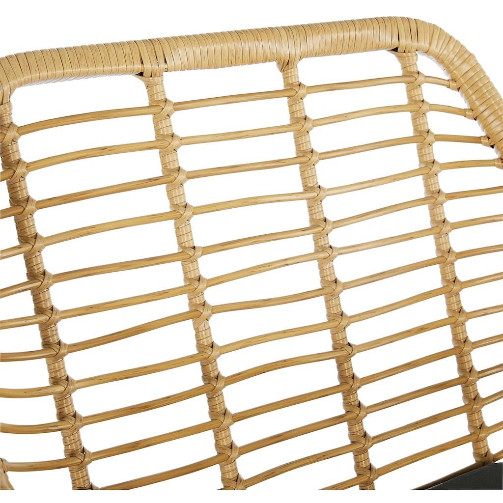 Homexperts Balkonset »Ylvi«, (5 tlg.), inklusive Sitzkissen und Beistelltisch, 2 Stühle mit Beistelltisch
