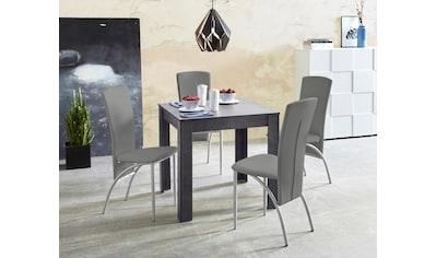 my home Essgruppe, (Set, 5 tlg.), Tischbreite 80 cm in schieferfarben kaufen