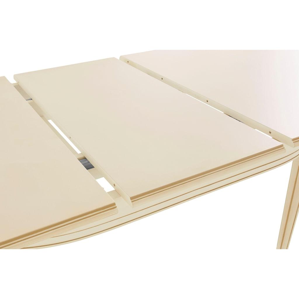 DELAVITA Esstisch »LUIGI«, Breite 166-216 cm, natur weiß