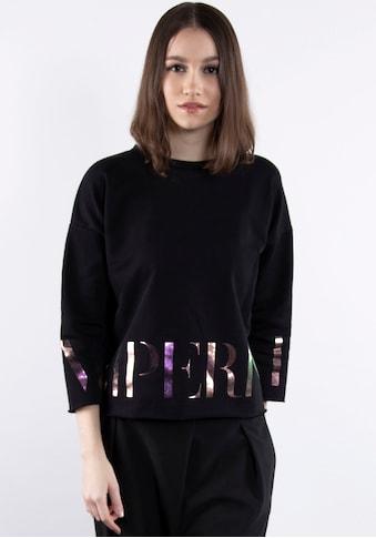 IMPERIAL Sweater »IMP-F 900ABWSIG«, Sweat mit offenen Kanten und Glossy Logo - Print kaufen