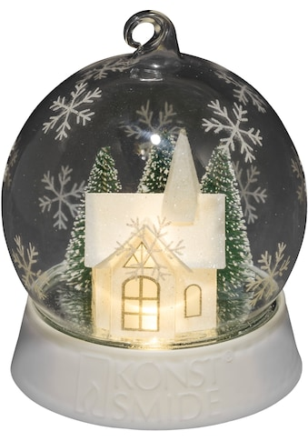 KONSTSMIDE LED Dekolicht, Warmweiß, LED Dekoglaskugel Haus mit drei Funktionen, 6h... kaufen
