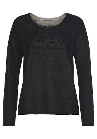 Herrlicher Sweatshirt »FREYJA«, mit Logo-Statement-Print kaufen