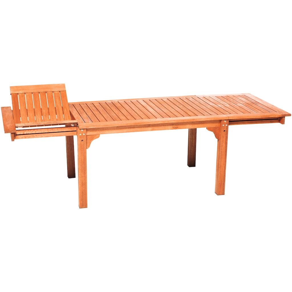 MERXX Gartentisch, ausziehbar, BxT: 150/185/220 x 90 cm