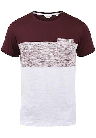 Solid Rundhalsshirt »Sinor«, T-Shirt mit Color Block kaufen