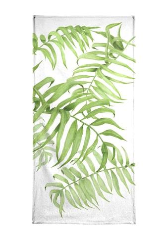 Juniqe Handtuch »Tropical No.1«, (1 St.), Weiche Frottee-Veloursqualität kaufen