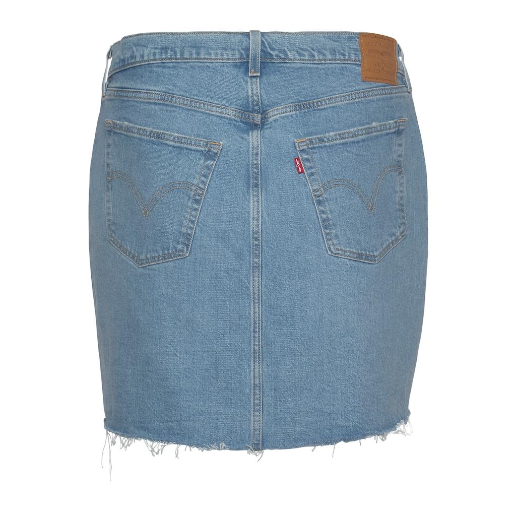 Levi's® Plus Jeansrock »Deconstructed Skirt«, mit ausgefranstem Saum