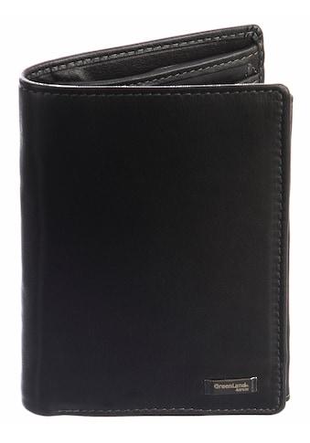 GreenLand Nature Geldbörse »Black Nappa«, mit RFID-Abschirmmaterial kaufen