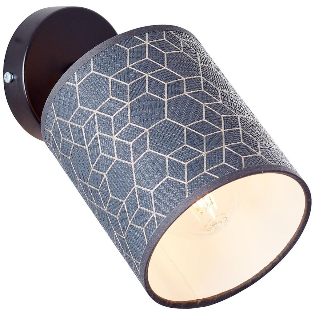 Brilliant Leuchten Wandleuchte, E27, Galance Wandspot schwarz