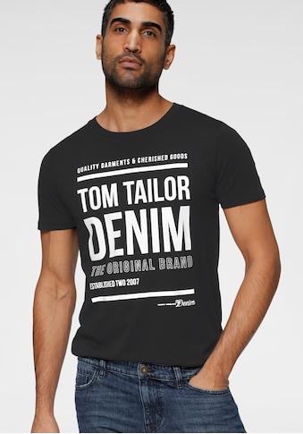 TOM TAILOR Denim T-Shirt, mit Logofrontprint kaufen