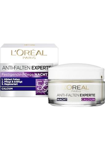 L'ORÉAL PARIS Nachtcreme »Anti-Falten-Expert Calcium 55+ Nachtpflege«, mit Calcium kaufen