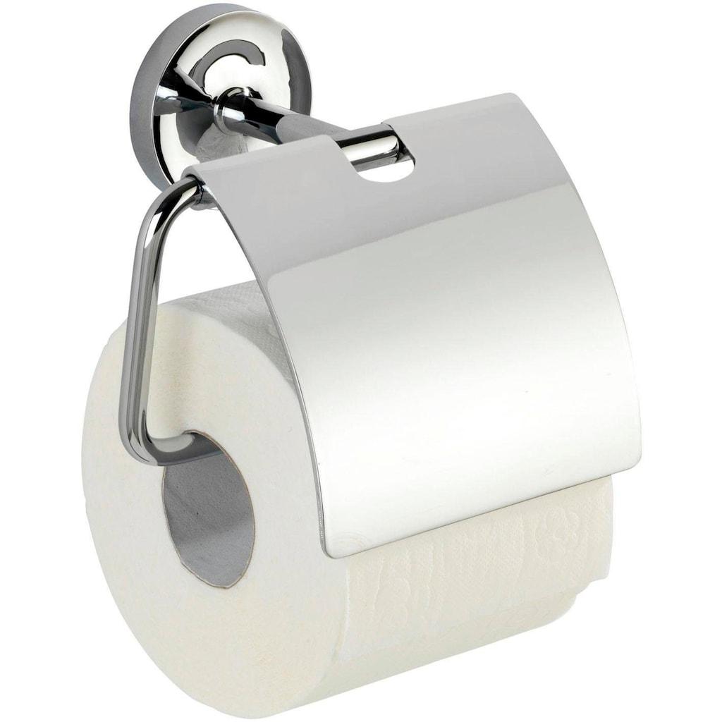 WENKO Toilettenpapierhalter »Arcole«, mit Deckel, Power-Loc