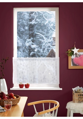 my home Scheibengardine »Lumi«, Weihnachtsgardinen kaufen
