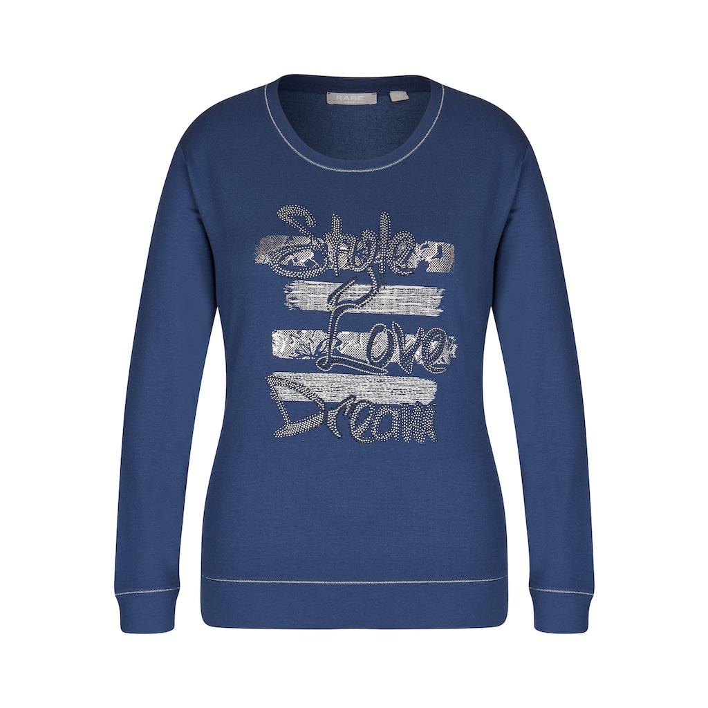 Rabe Sweatshirt, mit Kontrastnähten und Zierperlen