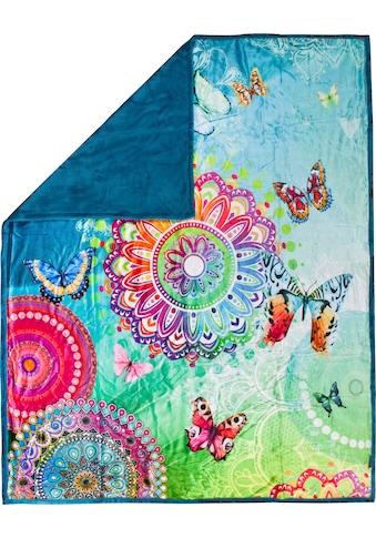 hip Plaid »Mystic«, mit Mandalas und Schmetterlingen kaufen