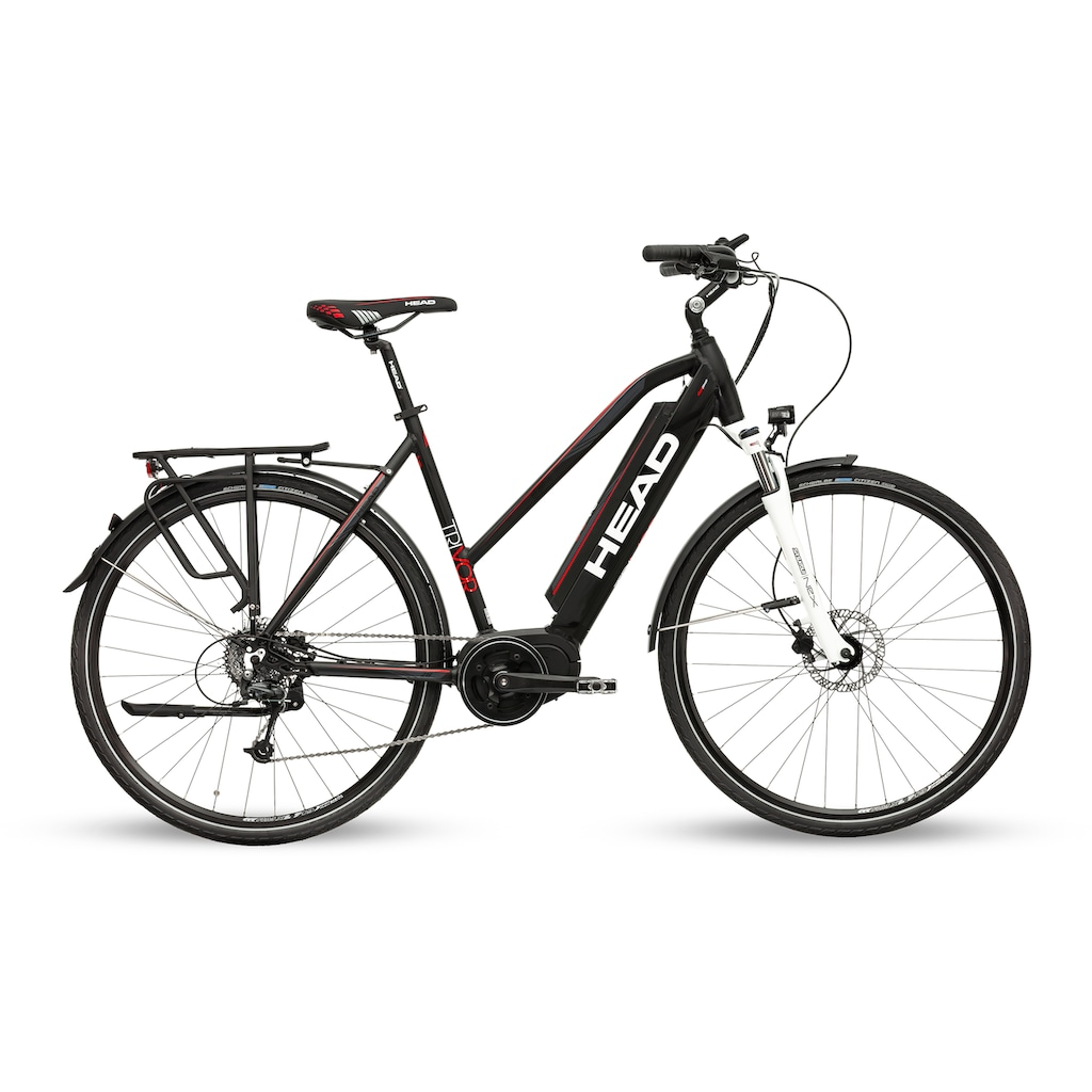 Head E-Bike »Trivor«, 9 Gang, Shimano, Acera RDT3000