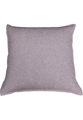 Schlafgut Kissenbezug »Melange Uni«, (1 St.), passend zu Spannbettlaken und Bettwäsche kaufen