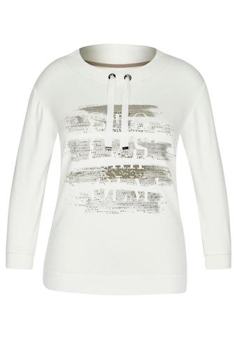 Rabe Langarmshirt, mit Front-Print und überschnittenen Schultern kaufen