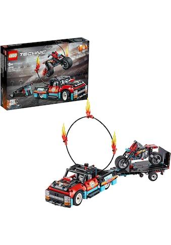 """LEGO® Konstruktionsspielsteine """"Stunt - Show mit Truck und Motorrad (42106), LEGO® Technic"""", Kunststoff, (610 - tlg.) kaufen"""