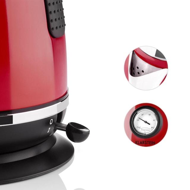 Klarstein Wasserkocher Teekessel 1,7l 2200W Thermometer »Aquavita Chalet«