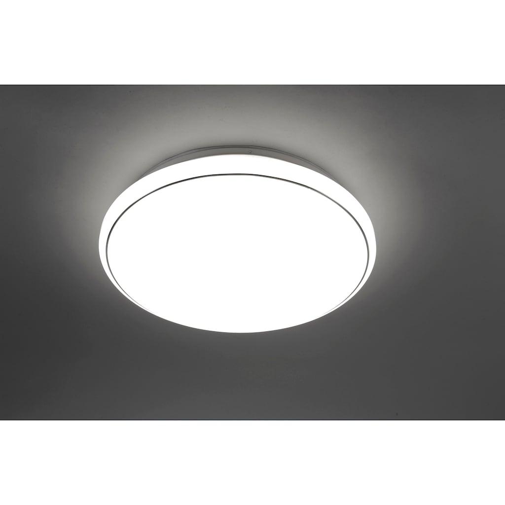 Leuchten Direkt Deckenleuchte »JUPITER«, LED-Board, 1 St., Warmweiß-Neutralweiß-Tageslichtweiß, CCT - Farbtemperaturregelung (verstellbar von 3000-5000K) Dimmbar über Fernbedienung Serienschalter Memoryfunktion, Ø 80 cm