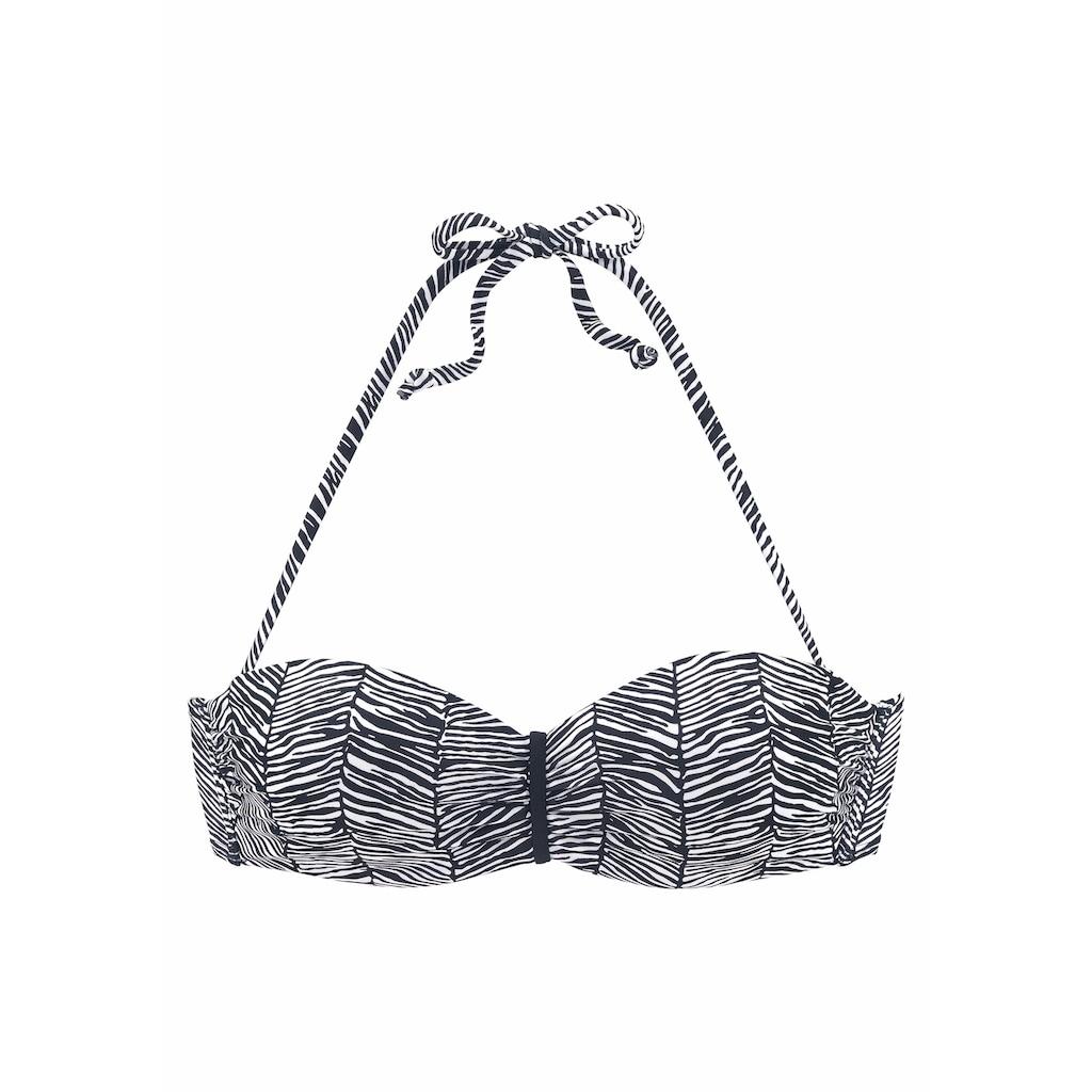 Venice Beach Bandeau-Bikini-Top »Sugar«, mit abstraktem Animalprint