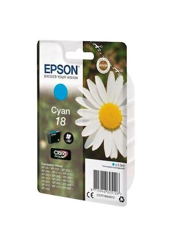 """Epson Tintenpatrone »""""18"""" Original C13T18024012 Cyan« kaufen"""