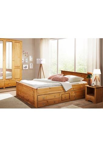 Home affaire Schlafzimmer-Set »Hugo«, (Set, 3 St.), Bett 140cm, 2-trg Kleiderschrank... kaufen