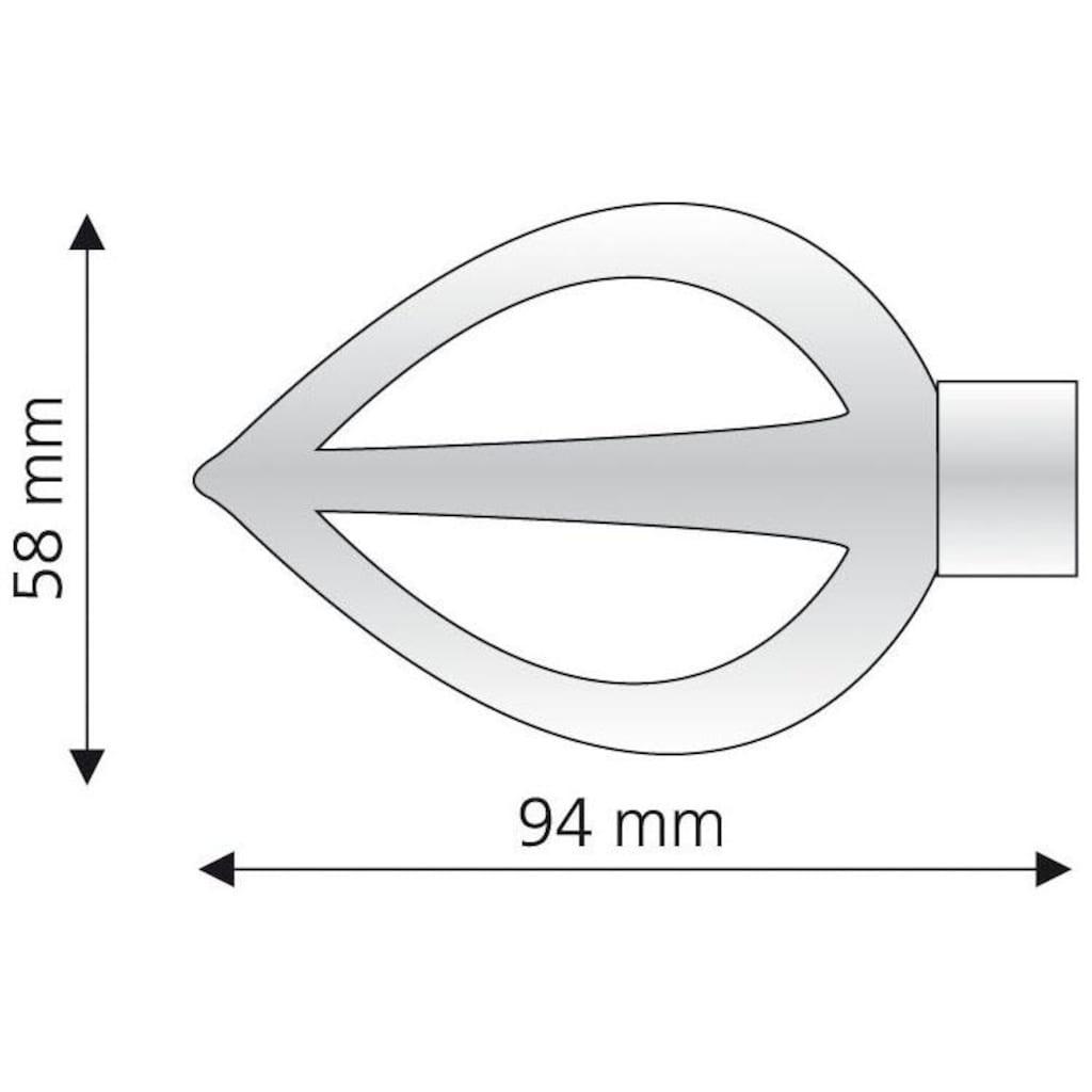 Liedeco Gardinenstangen-Endstück »Flamme«, für Gardinenstangen Ø 16 mm