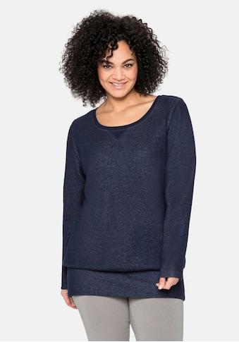 Sheego Sweatshirt, mit Anti-Pilling-Ausrüstung kaufen
