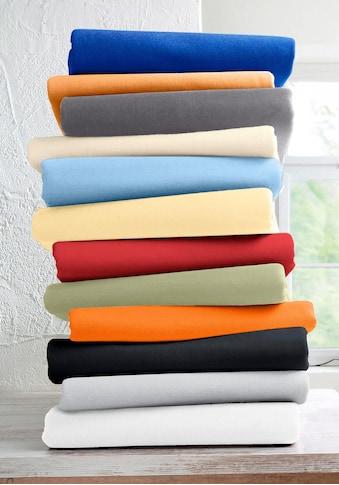Schlafgut Spannbettlaken »Mako-Jersey«, pflegeleicht und saugfähig kaufen