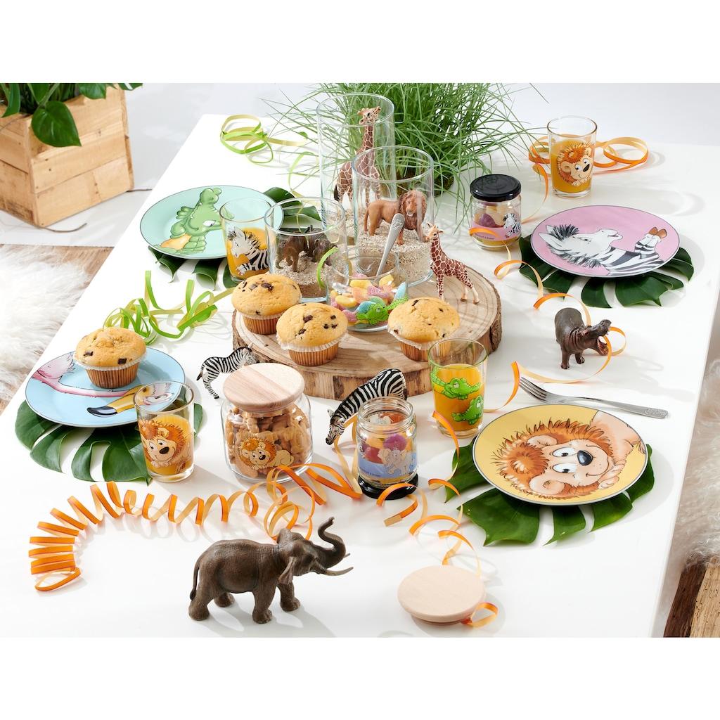 Ritzenhoff & Breker Kindergeschirr-Set »Happy Zoo, Flo«, (Set, 3 tlg.), mit Flamingo-Dekor