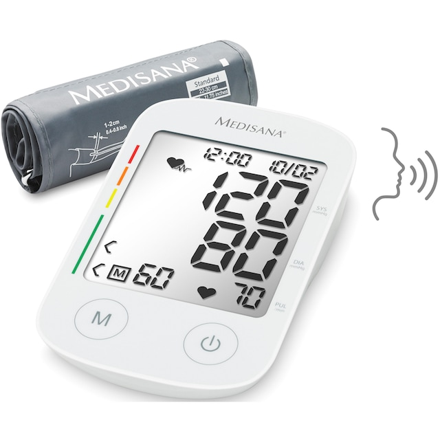 Medisana Oberarm-Blutdruckmessgerät BU 535 Voice
