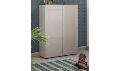 KITALY Schuhschrank »Mister«, Breite 80 cm, 2 Türen, Hochglanz Lackiert kaufen