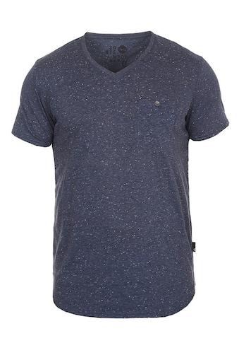 Solid V-Shirt »Tedros«, Kurzarmshirt mit Melierung kaufen