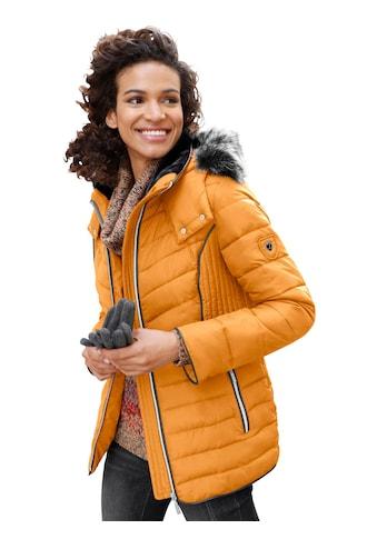 Casual Looks Jacke mit kontrastfarbigen Lederimitat - Paspeln kaufen