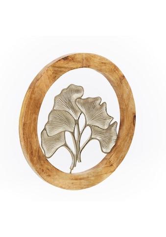 Schneider Wanddekoobjekt, Wanddeko, rund, Ø 60 cm, Motiv Ginko kaufen