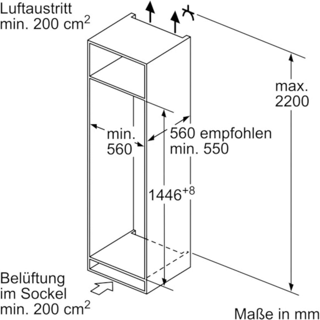 SIEMENS Einbaukühlgefrierkombination »KI67VVSF0«, iQ300
